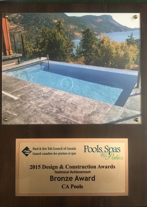 2015 Pool & Hot Tub council of Canada Design & Construction Awards (Technical Achievement) Bronze Award